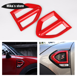 Image 2 - 1 pair Auto Outdoor Side Wing Fender Cover Stickers Turn signal Sticker For mini cooper Countryman F60 One / S  Car Accessories