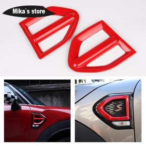 Image 2 - Pegatinas de cubierta de guardabarros lateral para coche, pegatina de señal de giro para mini cooper Countryman F60 One/S, accesorios para coche, 1 par