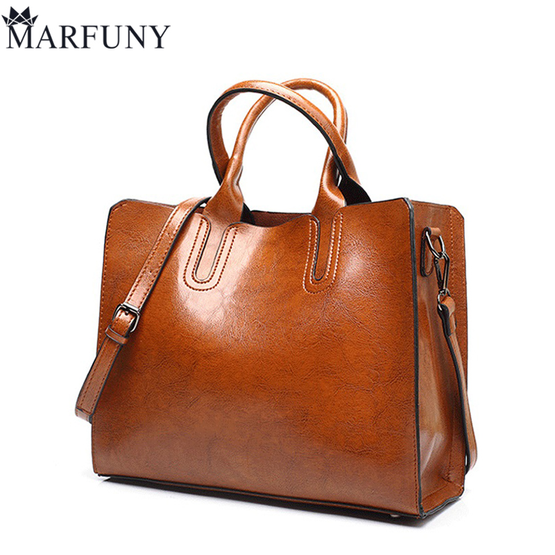 MARFUNY Brand Casual Totes Women Shoulder Bags Fashion Pu Leather Women Bag Handbags Female Large Capacity Tote Bag Sac A Main sisjuly 2017 new leather bag women handbags casual tote luxury brand designer oil wax lady shoulder bags female sac a main