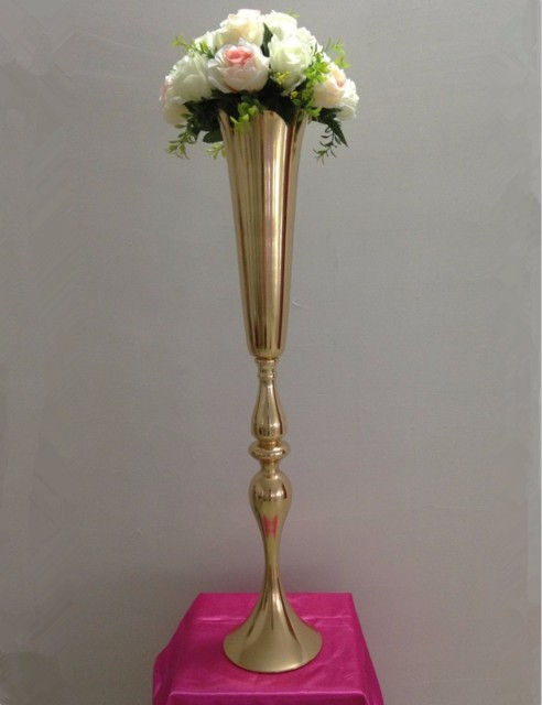 Large Size 10 Pcs 74cm Tall Gold Metal Candle Holder Candle Stand