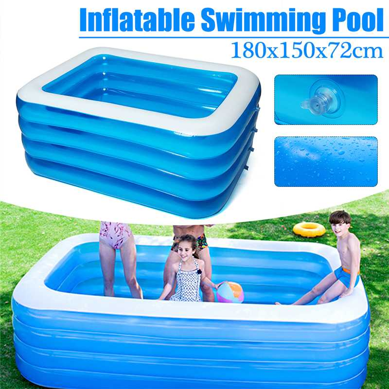 180x150x72cm Baby Swimming Pool Inflatable Pool Outdoor Children Basin Bathtub Kids Pool Baby Swimming Pool Water Play