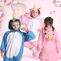 Children Soft Funny Unicorn Cosplay Sleepwear Costume Carnival Halloween Family Party Animal Jumpsuit Pajamas For Cute