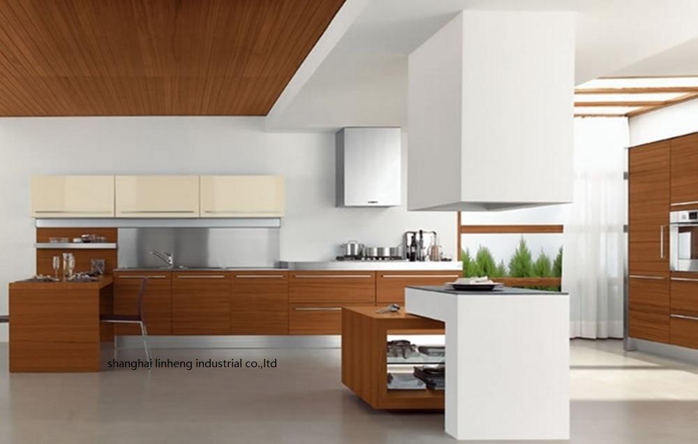 PVC/vinyl Kitchen Cabinet(LH-PV007)