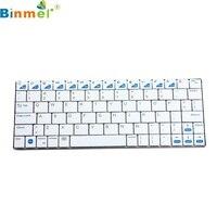 Mooie Gift Gloednieuwe Wit Mini USB Handheld Bluetooth 3.0 Wireless Keyboard voor ipad smartphone PC groothandelsprijs Dec28