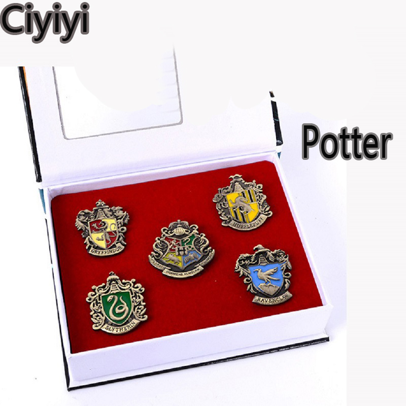 Harri Potter Cosplay Hogwarts School Badge Toy Magic World Children Party Show Badge Toys Children Halloween Jouet Gift