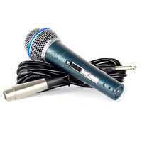 BETA58A Switch Professional Wired Handheld Dynamic Mic Vocal Karaoke Microphone System For Beta 58A With 6.5mm Jack Audio Line