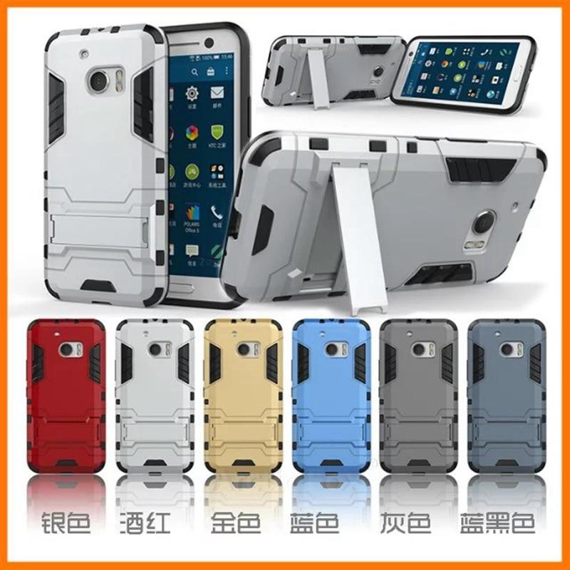 Resistente híbrido armor case para htc one m10 cubierta con soporte duro a prueb
