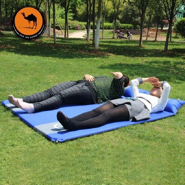 outdoor camping matte ultraleichtschlafsack pad aufblasbare doppel person. Black Bedroom Furniture Sets. Home Design Ideas