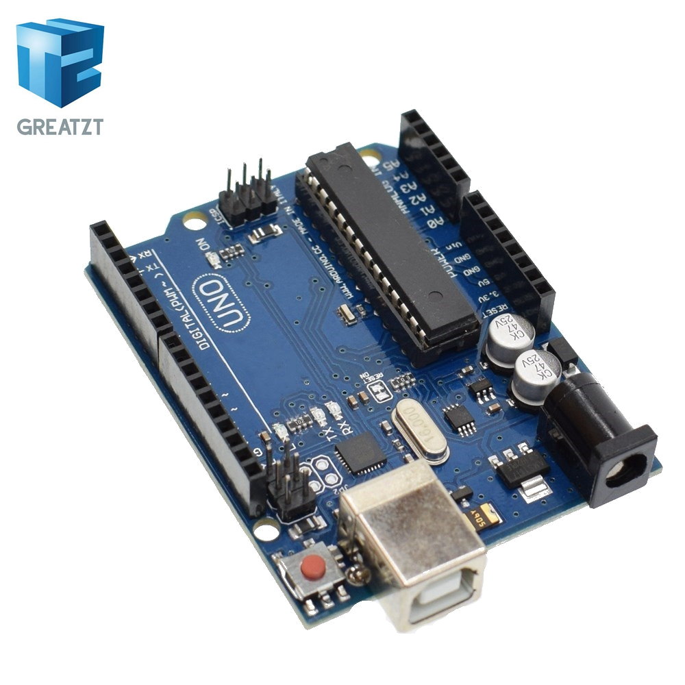 цена на GREATZT 1set uno r3 MEGA328P ATMEGA16U2(with logo) for Arduino Compatible without USB Cable
