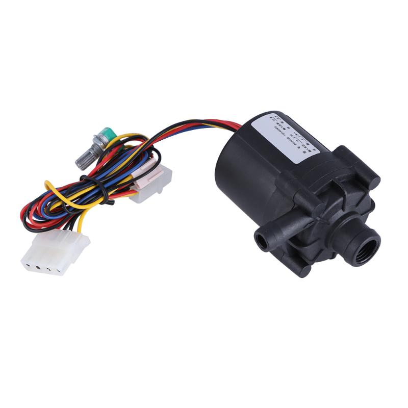 Promotion DC 12V 10W Adjustable Water Flow Pump for PC Water Cooling System Computer Components Cooling Cooler Water Pump computer acc water cooling flow meter pom 2 ways g1 4 port female to female flow meter indicator for pc water cooling system