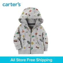 Carter's 1-Piece baby children kids clothing Boy Zip-Up French terry Snack Graphic Hoodie 127H167