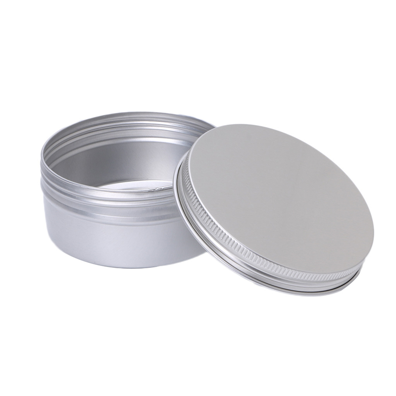 New Empty Aluminum Cosmetic Balm Tin Jar Container Round Pot Screw Cap Lid 150ml