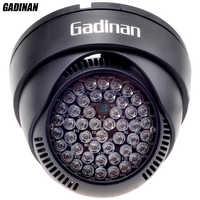 GADINAN 12V 48 LED illuminator Light IR Infrared Night Vision Assist LED Lamp ABS Plastic Housing For CCTV Surveillance Camera