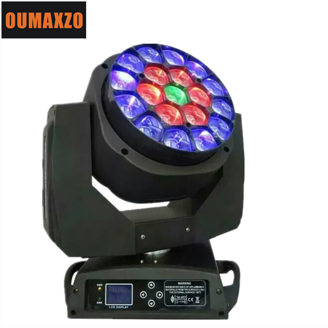 Grote Bee Eye Led Moving Head Zoom Functie 4-60 Graden Rgbw 4IN1 19*15W Beam Effect licht 19Pcs 15W Grote Bee Eye Led Moving Head