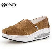 2017 Hot Sale Womens Shoes Ladies Platform Shoes Canvas Flats Slip On Solid Woman Leisure Breathable Shoe Female Fashion Casual