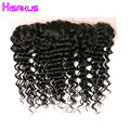 8a Deep Curly Frontal Peruvian Deep Wave Frontal Virgin Hair Lace Frontal Closure 13x4Ear To Ear Lace Frontal Closure Human Hair