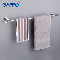 GAPPO 1Set High Quality Wall Mounted Single Towel Bars Towel Holder Hooks Restroom Towel Rack Bathroom