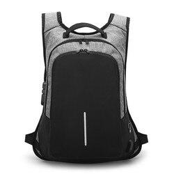 Mochila impermeável para bolsa Para Laptop de 15.6 polegada USB Homem de Moda feminina Mochila de Viagem Mochila para Notebook 15 de Volta homens bloco