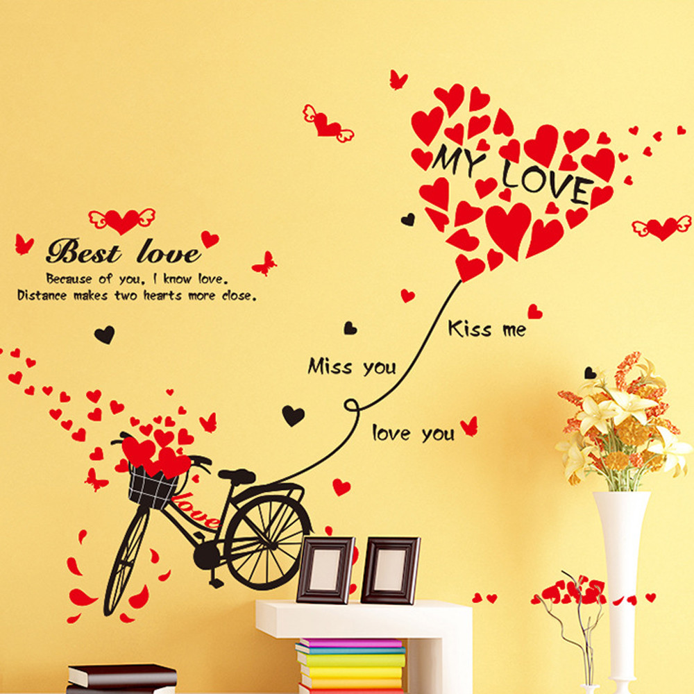 3D Silhouette Wall Stickers Mural Decal Quotes Art Home Removable ...
