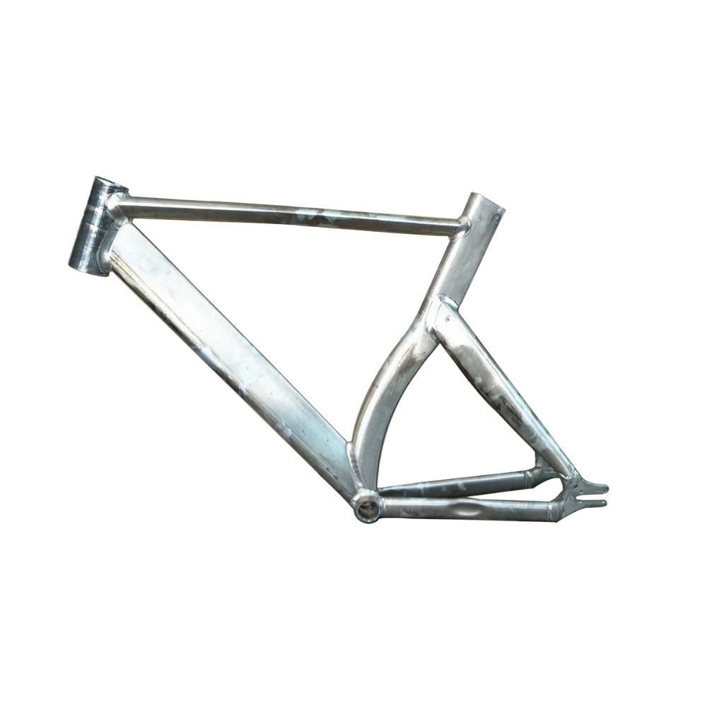 цена на Fixed Gear Bike Frame 50 cm 53cm 57cm No Finish Smooth Welding Raw Frame track bicycle Frame Aluminum Alloy bike Frame