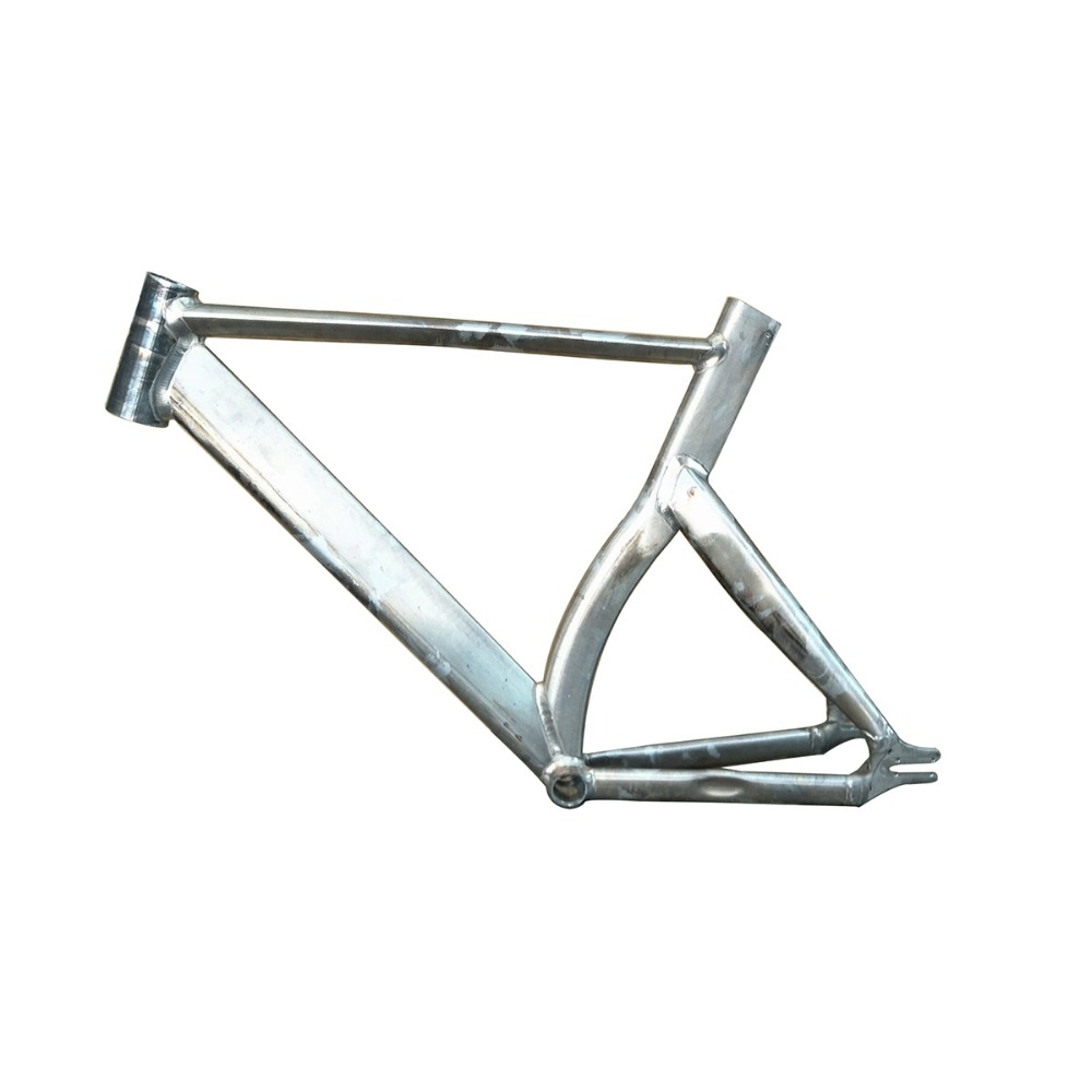Fixed Gear Bike Frame 50 cm 53cm 57cm No Finish Smooth Welding Raw Frame track bicycle Frame Aluminum Alloy bike Frame
