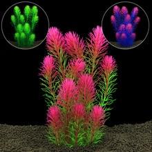 New Design Plstic Artificial Plant Aquarium Decoration Fish Tank Aquarium Water Plant Grass Ornament 25cm Height