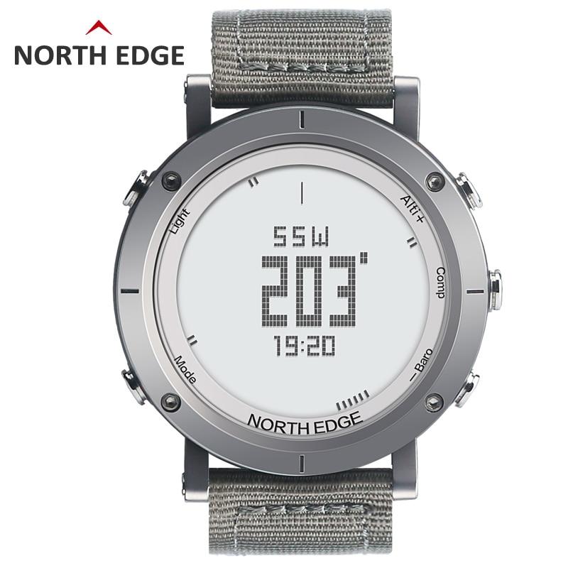 NORTHEDGE numérique montres Hommes montre de sport horloge de pêche Météo Altimètre Baromètre Thermomètre Boussole Altitude randonnée heures