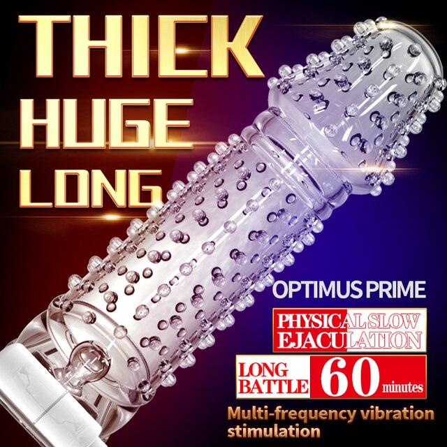 Nova Mangas Pênis Extensão Penis Anéis Penianos Anéis Penianos Cristal Adultos Produtos Do Sexo Preservativo Reutilizável Sexy Brinquedos Para homens