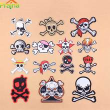 ZOTOONE DIY Biker Skull Patches For Clothing Patches Sequin Punk Cartoon Iron On cheap Embroidered Stickers PVC Costura Loge A1