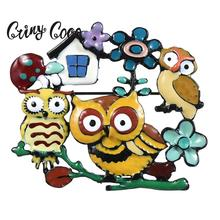 Cring Coco New Colorful Enamel Owls Fower Brooches & Pins Fashion Pin Cartoon for Children Kids Christmas Year Gifts