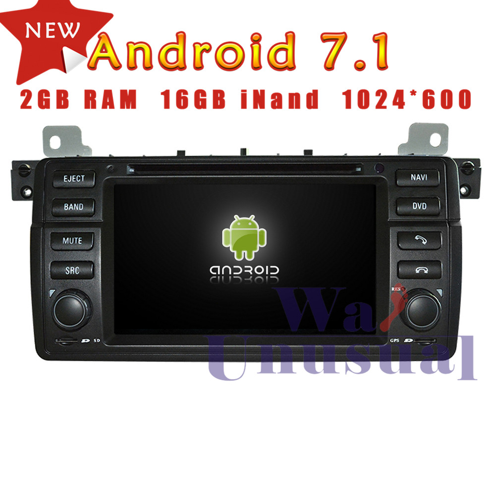 7 inch quad core16g android 7 1 auto gps navigation for bmw e46 m3 1998