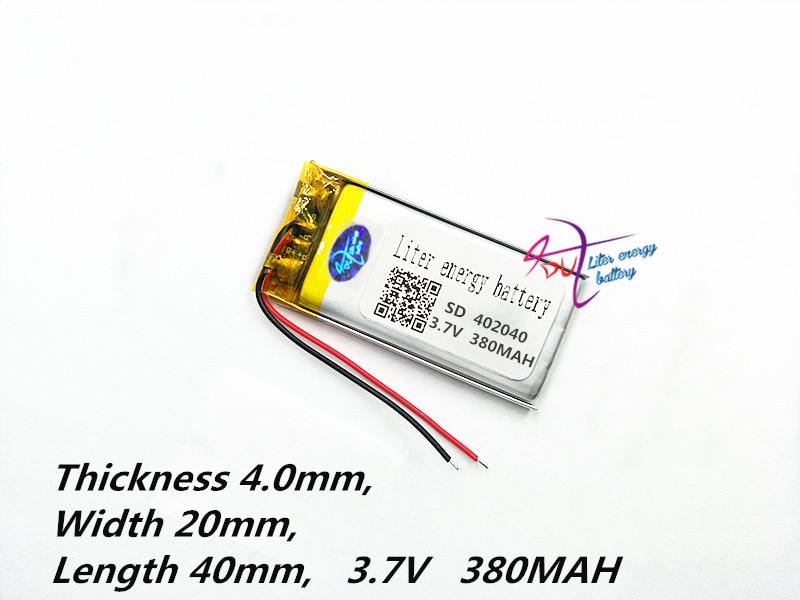 Batería de polímero de litio 402040 042040 3.7V 380mAh MP3 MP4 - Accesorios para tablets - foto 3