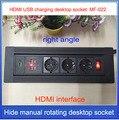 Европейская штепсельная вилка/Европейская настольная розетка питания/скрытое Ручное Вращение/HD HDMI кабель USB разъем для зарядки/правый угол...