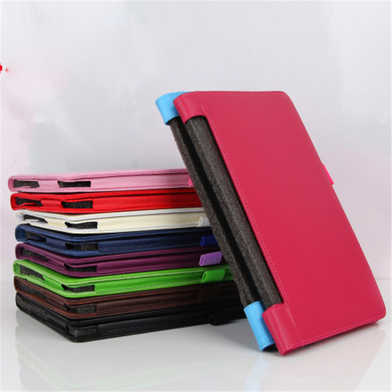 Galleria fotografica Soft Lichee PU Leather Protective stand Cover Case For Lenovo yoga Tab 3 8.0 850F 850M 850L YT3-850F/L/M 8