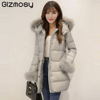 New 1PC Winter Jacket Women 100 Real Raccoon Fur Warm Winter Coat Thick Hooded Parkas Womens