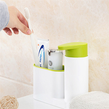 Multifunctional Soap Dispensers Washing Sponge Storage Rack Hand Sanitizer Bottle Bathroom Kitchen Detergent Holders