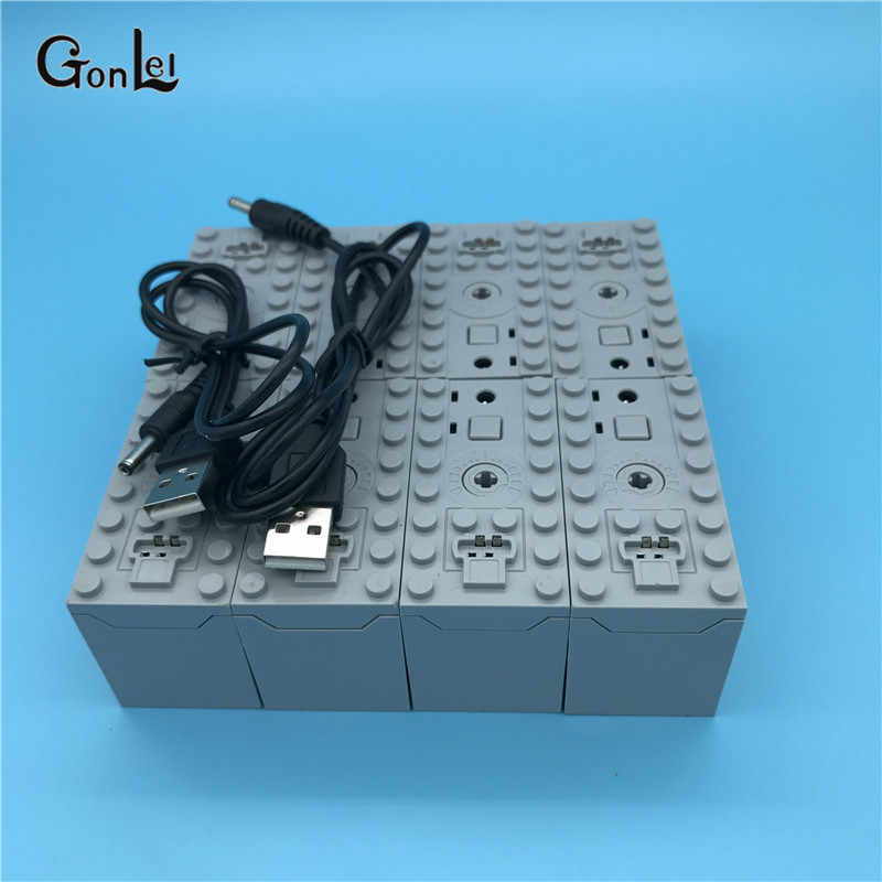 Rechargeable Battery Box 8878 -1 54599 MOC Building Blocks Cars motor Toys Compatible with 84599 64227 58122 58123B Parts Toys