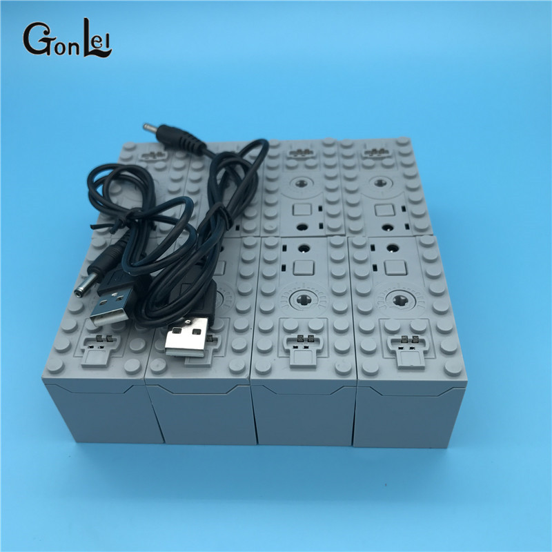 Rechargeable <font><b>Battery</b></font> Box 8878 -1 54599 MOC Building Blocks <font><b>Cars</b></font> motor Toys <font><b>Compatible</b></font> with 84599 64227 58122 58123B Parts Toys image