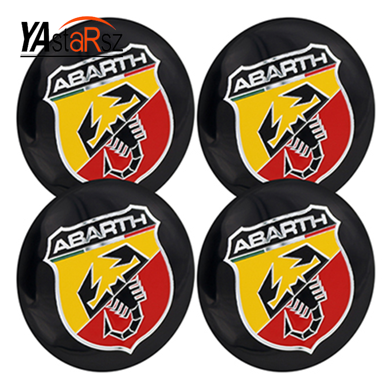 56.5mm Abarth Car Emblem Wheel Center Hub Cap Badge wheel Decal Sticker Car Accessories For FIAT 124 125 500 695 OT2000 Coupe auto chrome camaro letters for 1968 1969 camaro emblem badge sticker