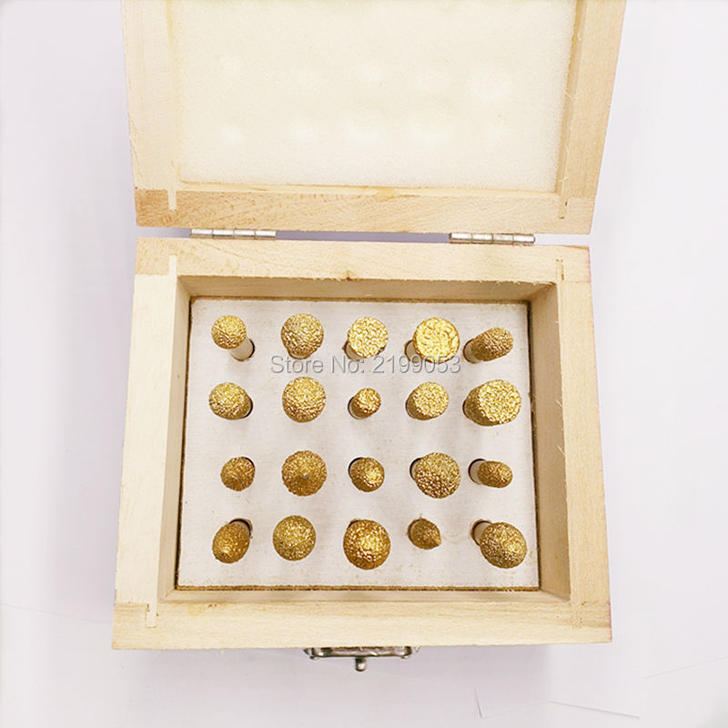 YIYAN 20 pz / set 6 mm con codolo sottovuoto con frese diamantate con - Accessori per elettroutensili - Fotografia 3