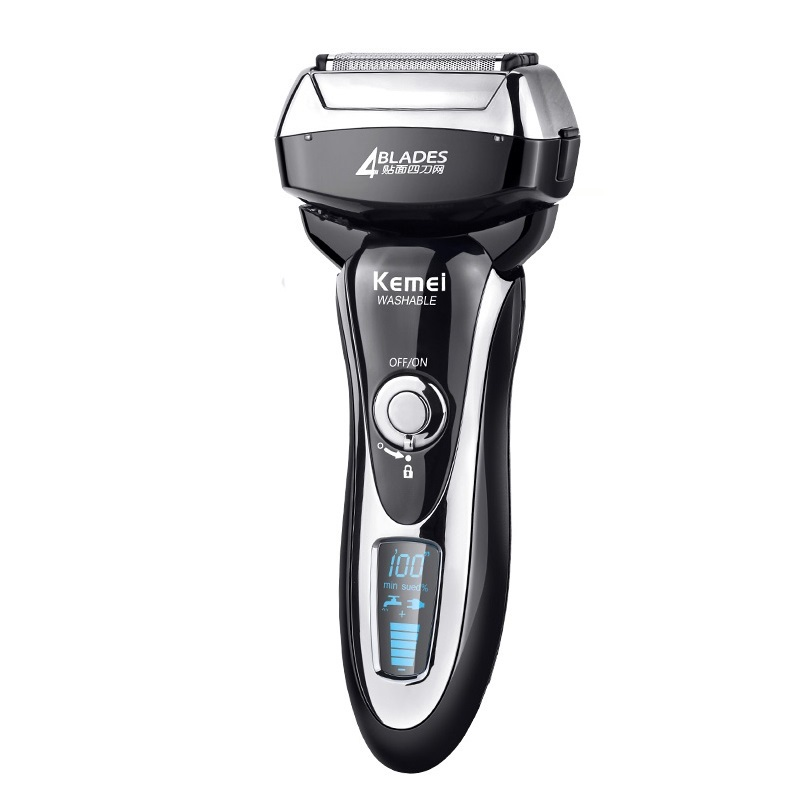 Kemei KM 5568 Washable 4 Heads Electric Shaver for Men Rechargeable Shaving Machine Professional Shaver Razor Trimmer - 2