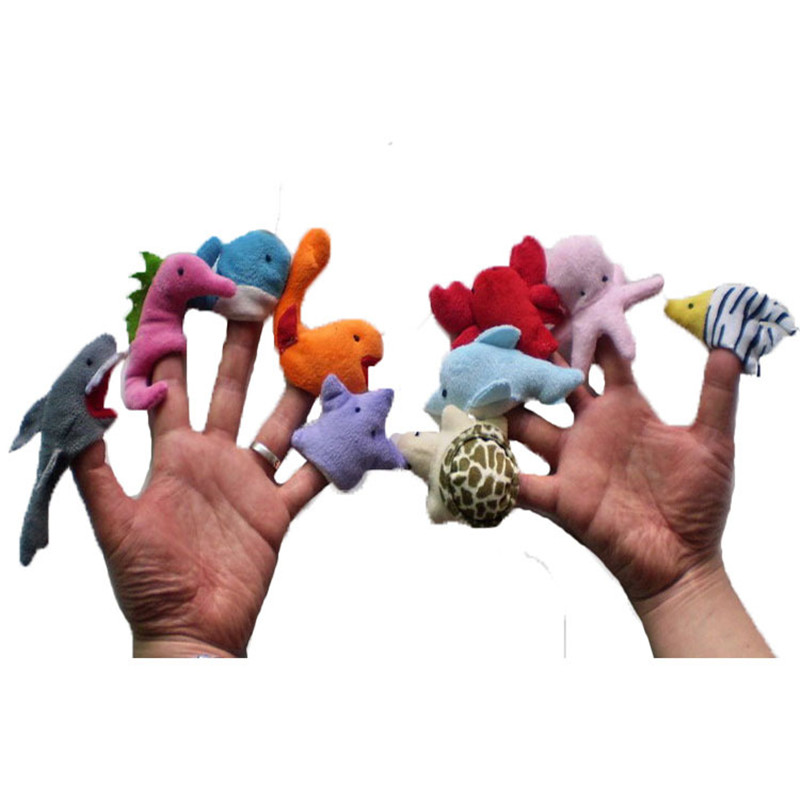 10 pcs Hewan Laut Boneka Jari Mewah Mainan Hewan Laut Boneka Tangan Boneka  di Boneka dari Mainan   Hobi AliExpress.com  2fef538327