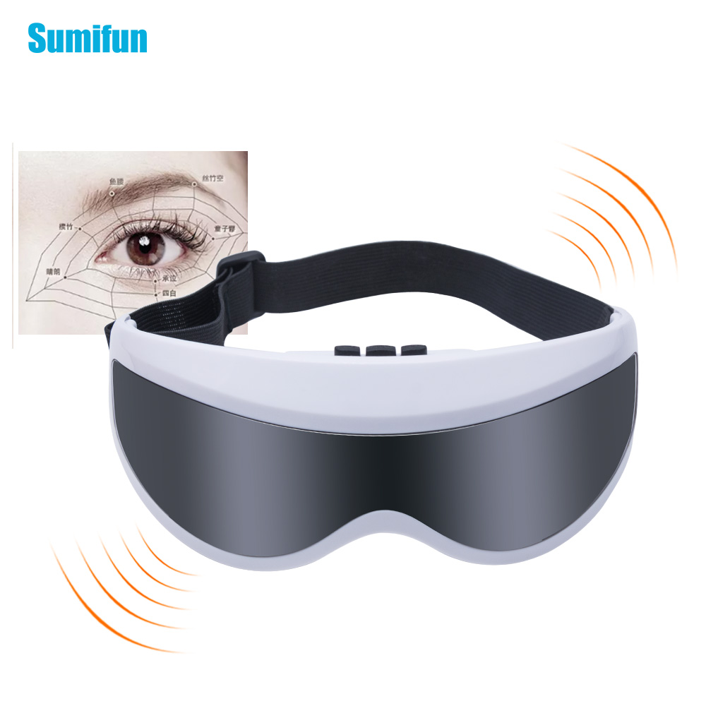 Electric Eye Massager Magnetic Vibration Massage Eyes Chinese Acupoint Protection Relaxation Instrument Anti-aging C1282 2pcs jia kang s three generation eye instrument eye massager eye eye massager extended edition of the new
