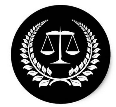 1.5inch Black White Laurel Law School Graduation Classic Round Sticker
