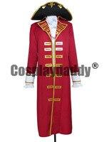 Pirate Captain мужское сердце Тренч комплект для взрослых Хэллоуин Косплэй костюм L005