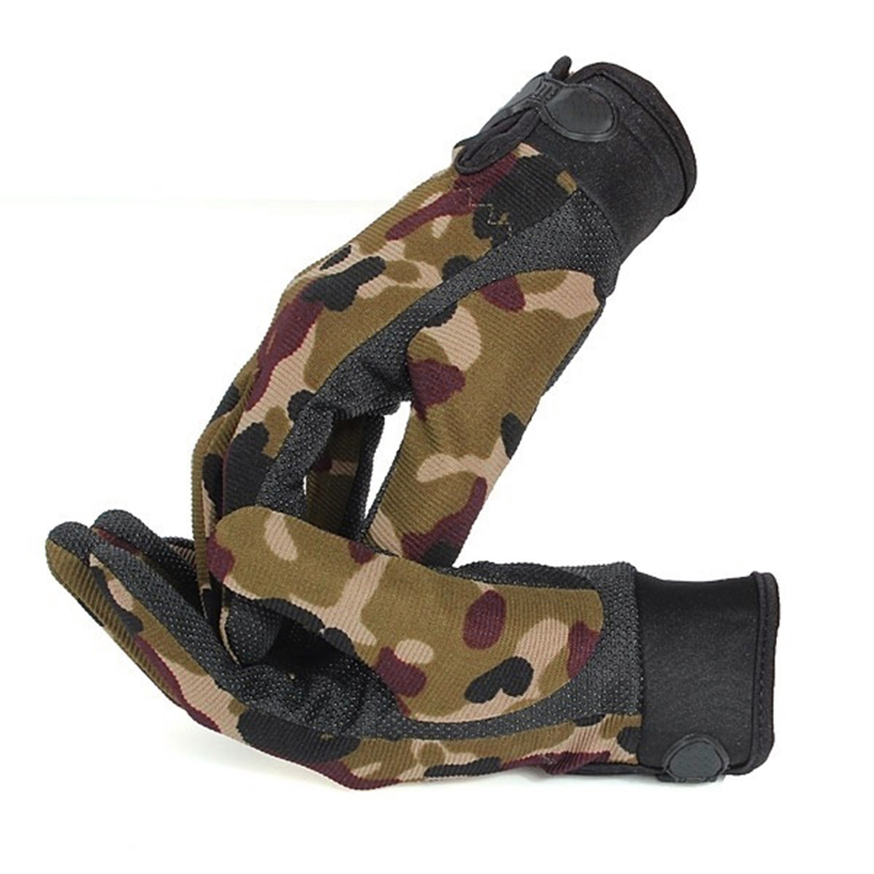 Camouflage Men Running Mountains Gloves Outdoor Sports Mitten Windproof Airsoft Shooting Hunting Full Finger Gloves