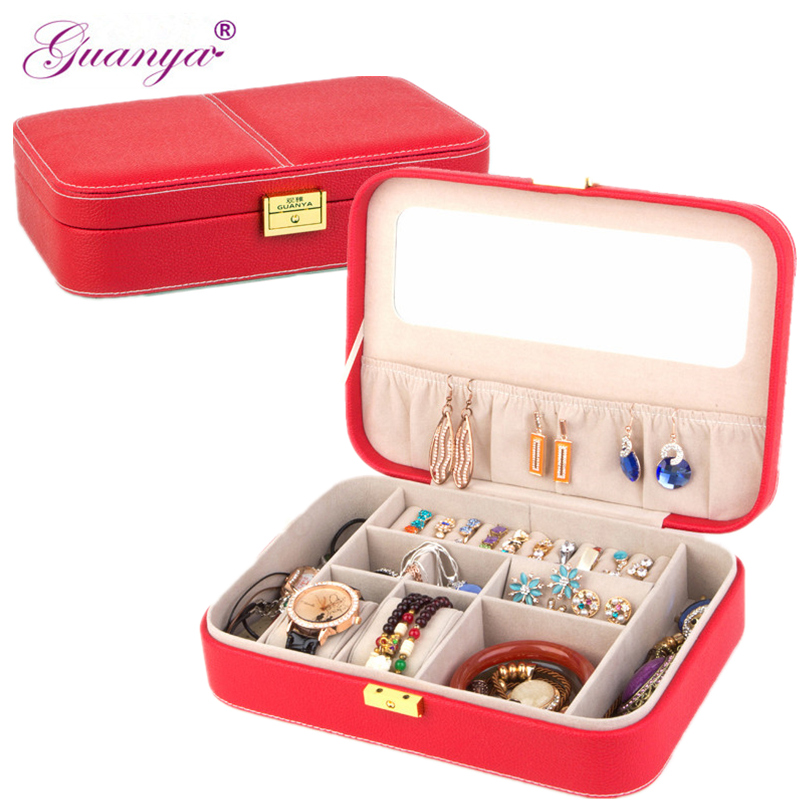 Guanya New Creative Jewelry Box Makeup,Casket for Jewelry Travel Case Birthday Gift Ring Earrings Necklace Storage Container цена в Москве и Питере