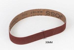 Image 2 - 5 stks 30*533mm Schuren Riemen 533*30mm Band Scherm Met Grit 60 om 600 Zachte doek Voor Bandschuurmachine