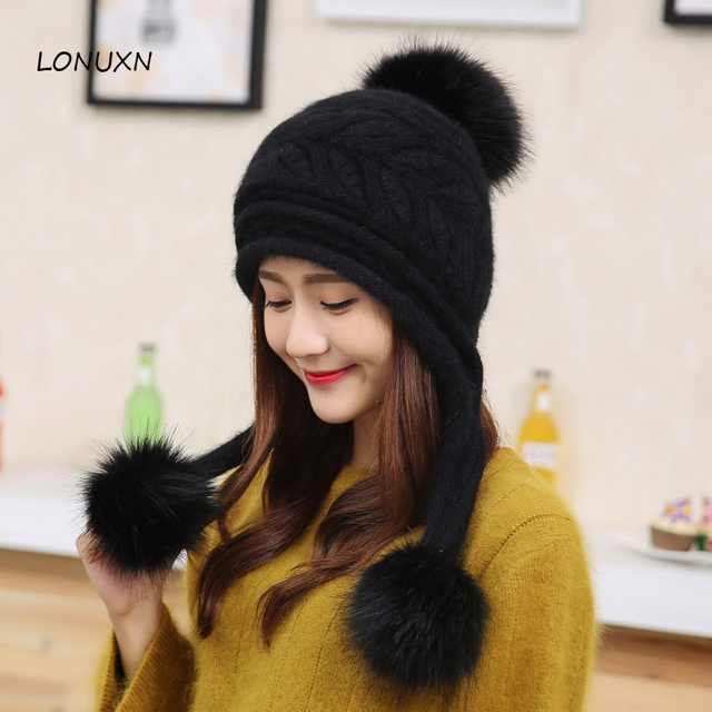 6f367044e1f 6 colors High quality winter hat children winter sweet Korean tide fashion cute  Winter girls Knit