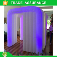Special shape lighting brightly 16 colors changing inflatable cabin cube for photo booth machine for wedding event party